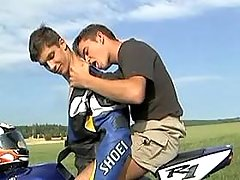 Smooth bikers enjoy oral in nature